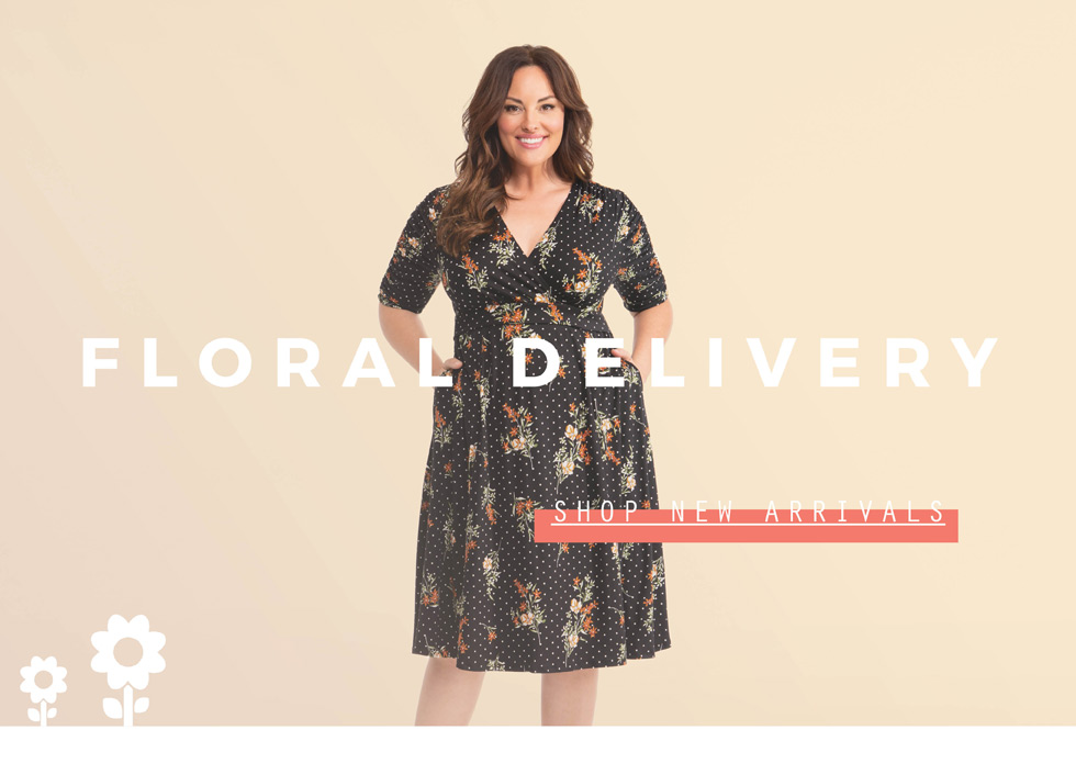 Plus Size Dresses in floral prints