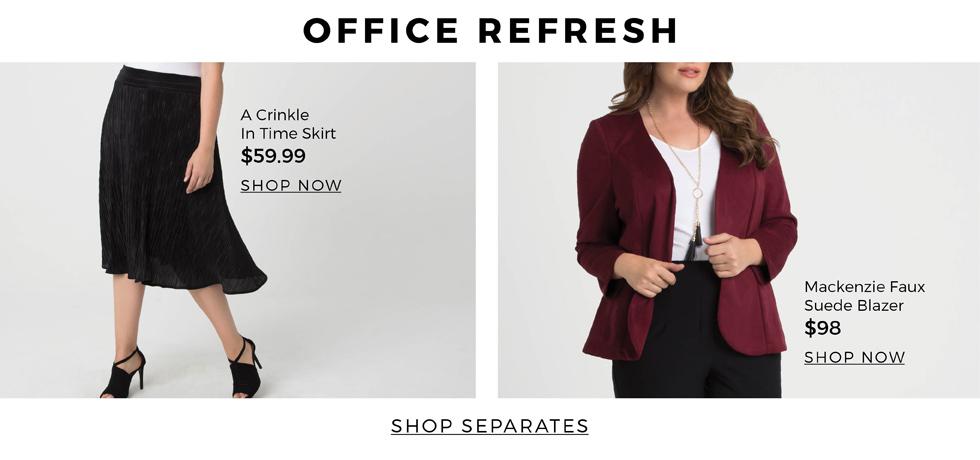 plus size women's work wear separates