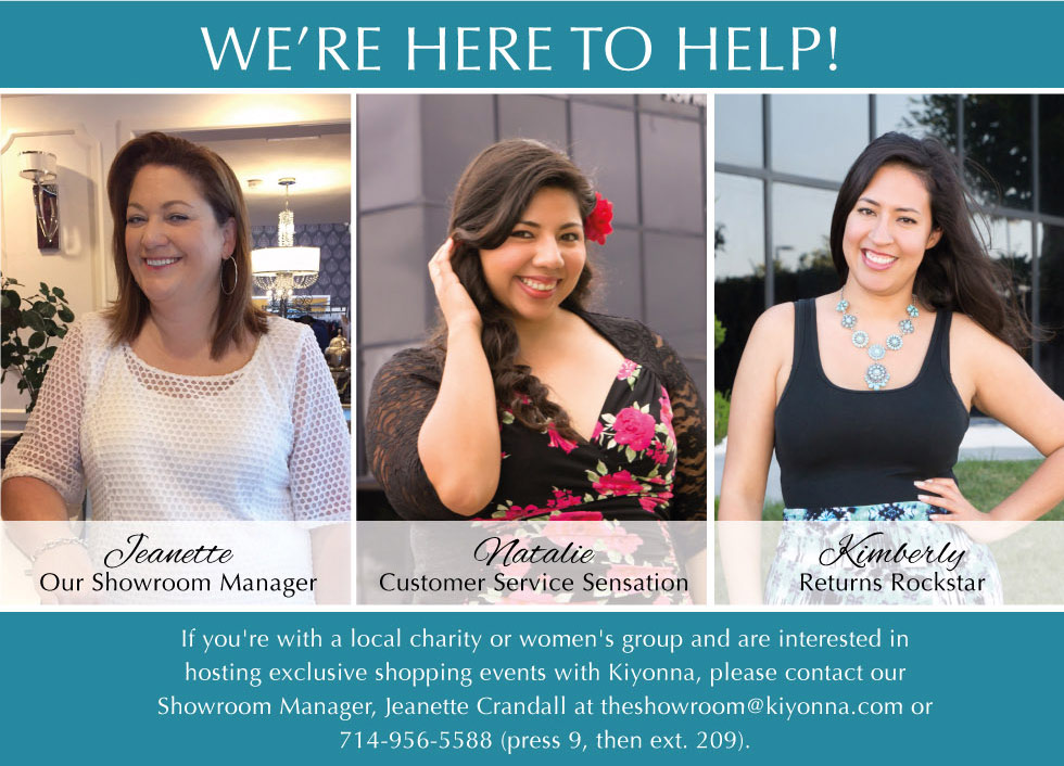 Meet your Kiyonna Customer Service Team
