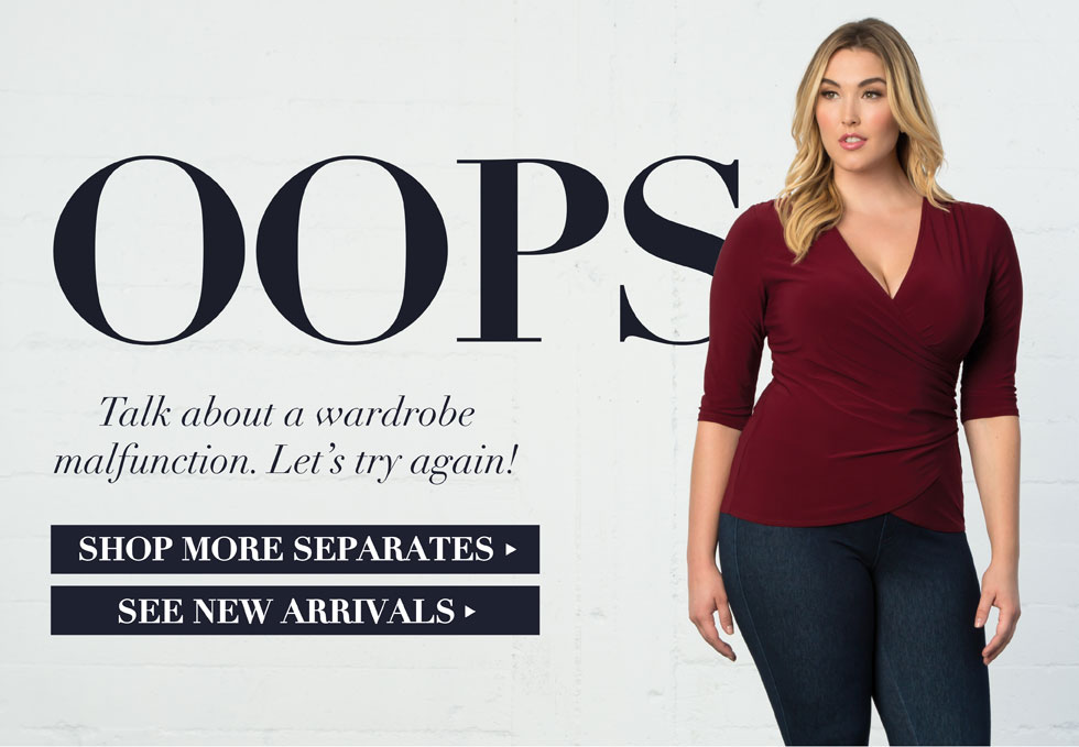 Oops, we're sorry this item is no longer available. Check out our plus size separates. At Kiyonna, we have a fresh new stock every week.