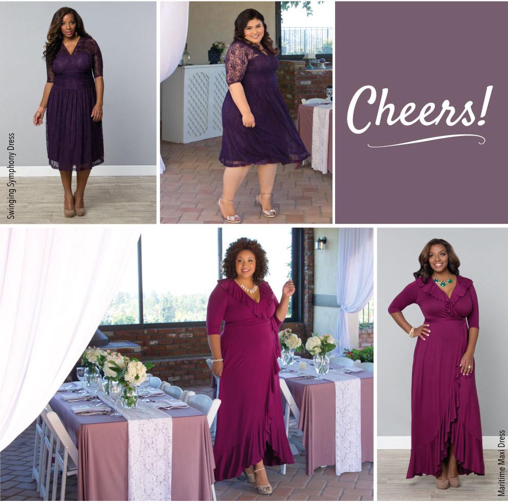 Figure Flattering Plus Size Cocktail Dresses
