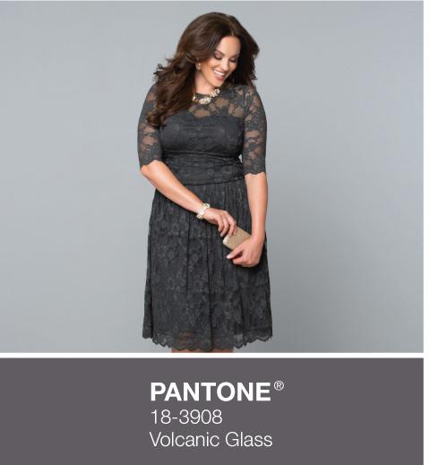 Plus Size Evening Wear Dresses in Grey