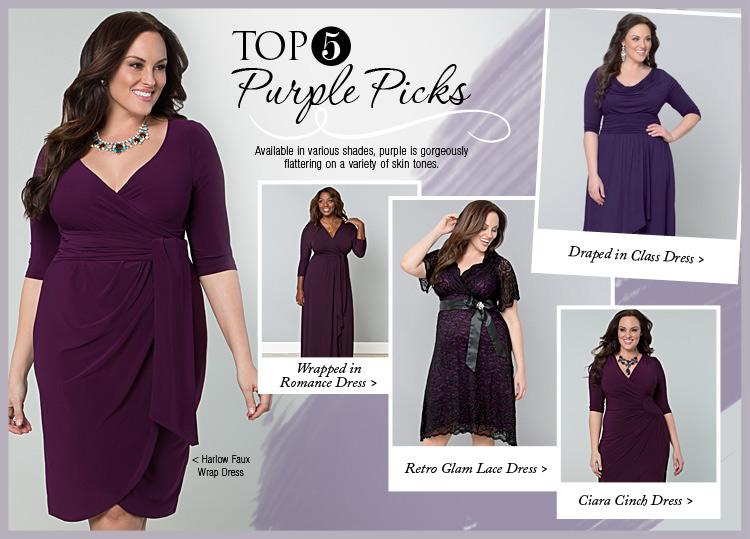 Top 5 Plus Size Purple Dresses