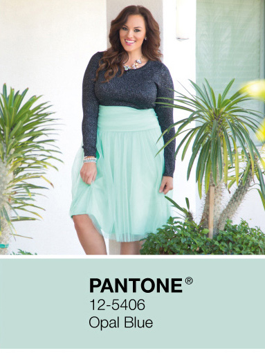 Trendy Plus Size Skirts in Mint