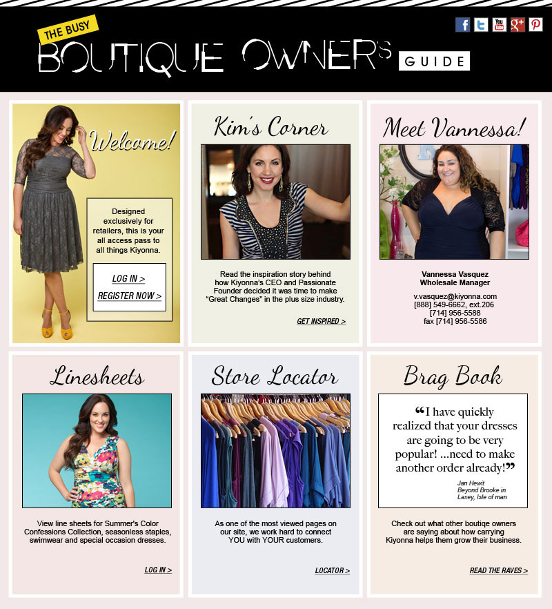 The Busy Boutique Owner's Guide to All Things Kiyonna!