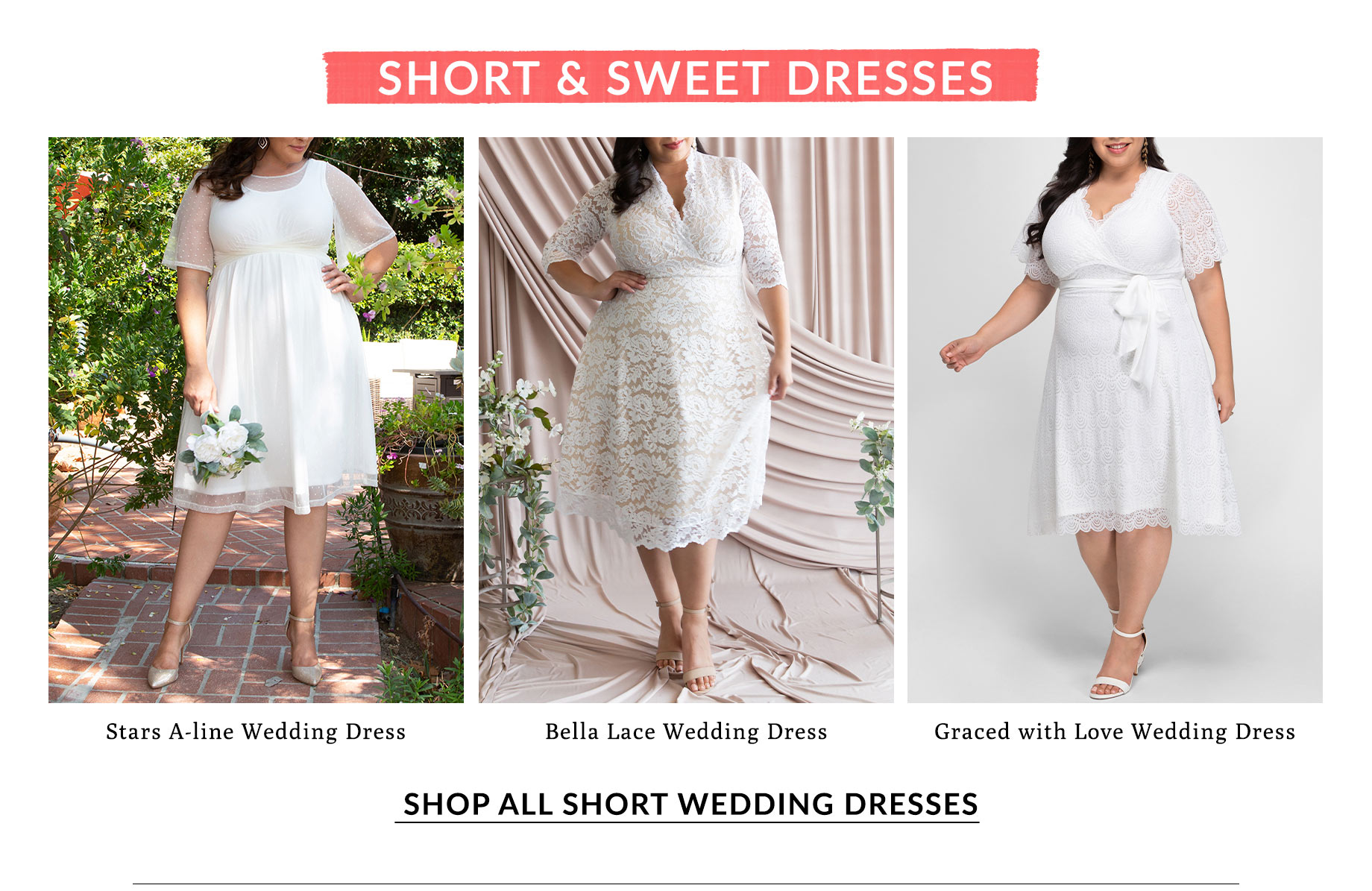 Shop All Short Wedding Dresses