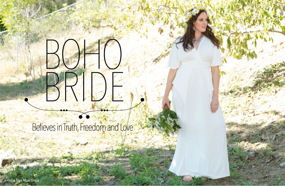 Boho style wedding dresses for plus size women