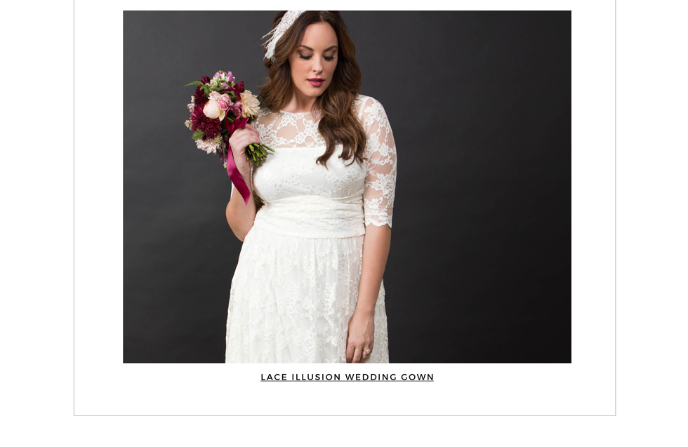 Classic Wedding Gowns for plus size women