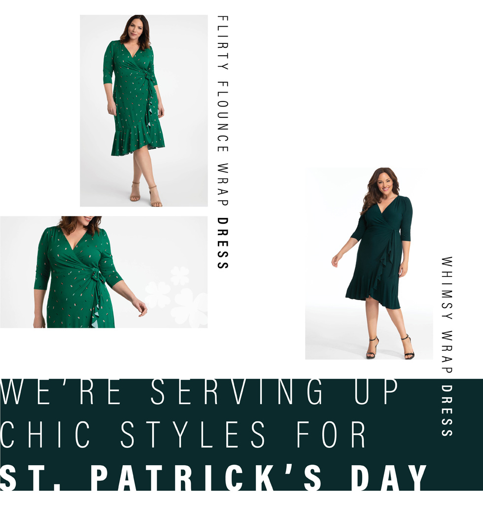 Plus size dresses in green