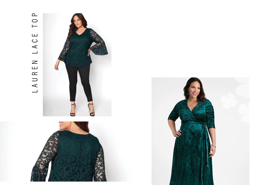 Plus size clothing in green