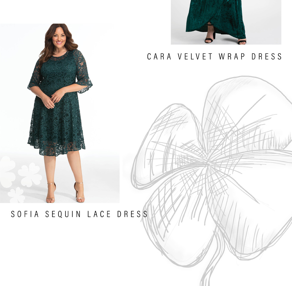plus size special occasion dresses in green