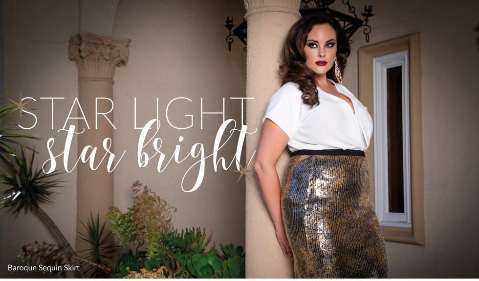 Plus Size Sequin Skirt for New Year's Eve