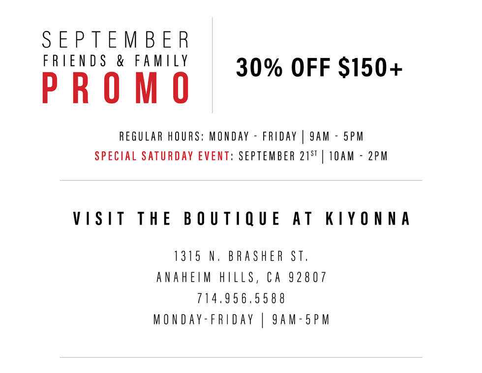 The Boutique at Kiyonna in Anahiem Hills, CA