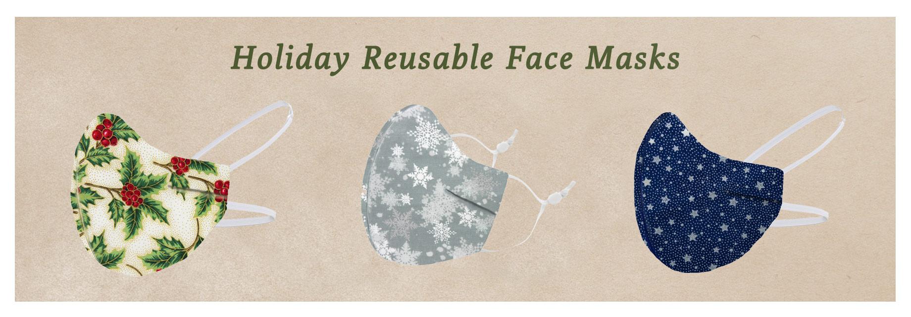 Holiday Reusable Face Masks