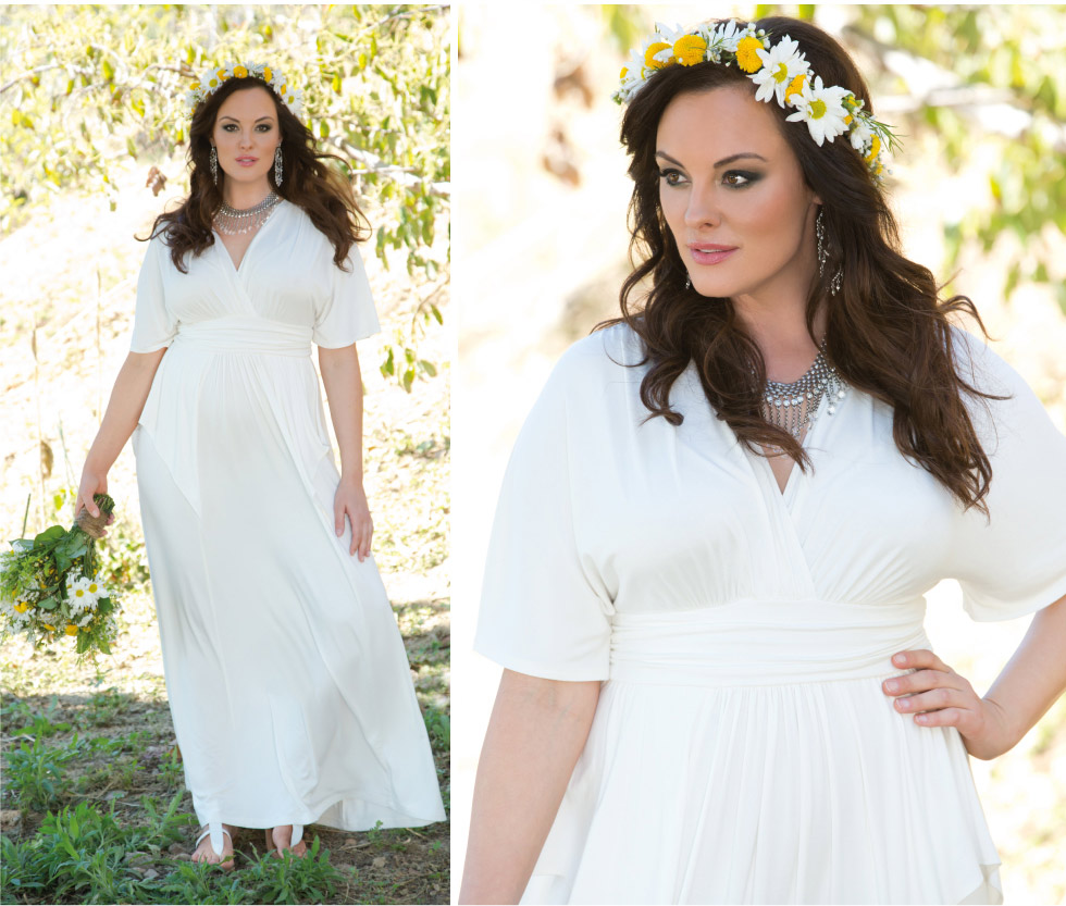 Plus Size wedding dresses for boho style bride