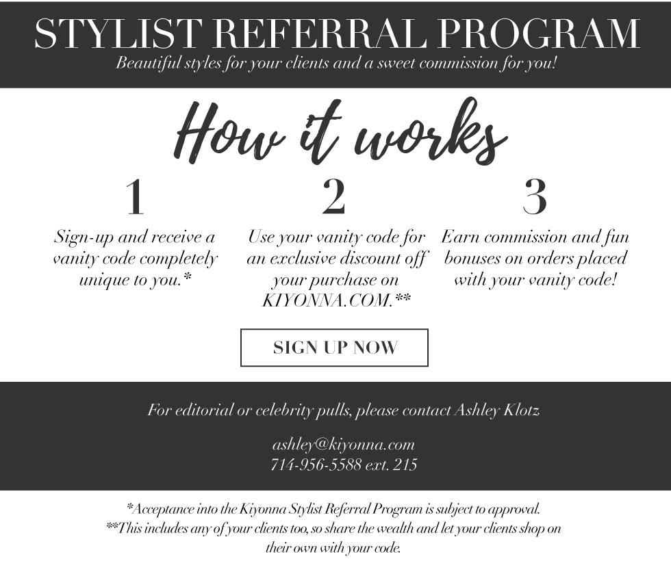 Plus Size Clothing stylist referral program