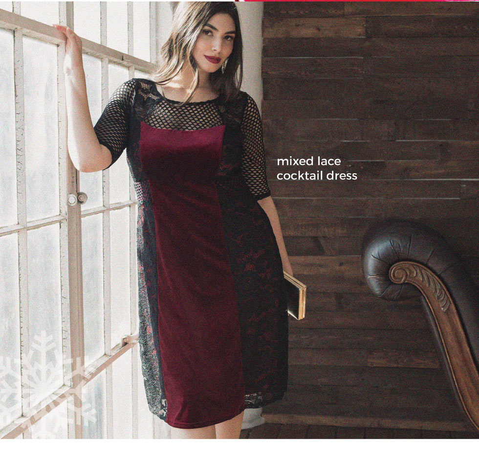 Holiday Evening Dresses Plus Size