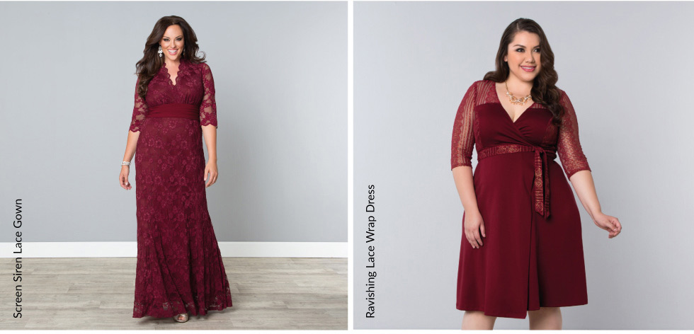 Plus Size Evening Wear Dresses and gowns in red