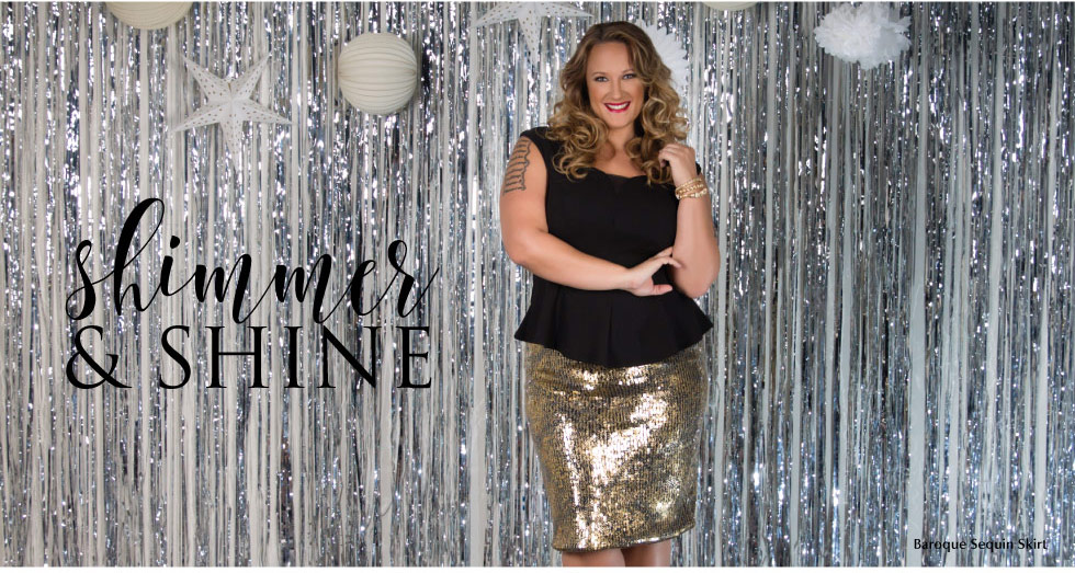 Plus Size Trendy Skirts in Sequins