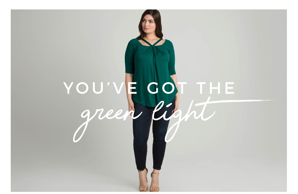 plus size styles in green