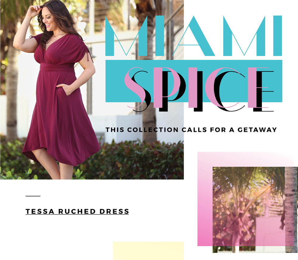 Plus Size Women's Clothing | Miami Spice 2018 Lookbook