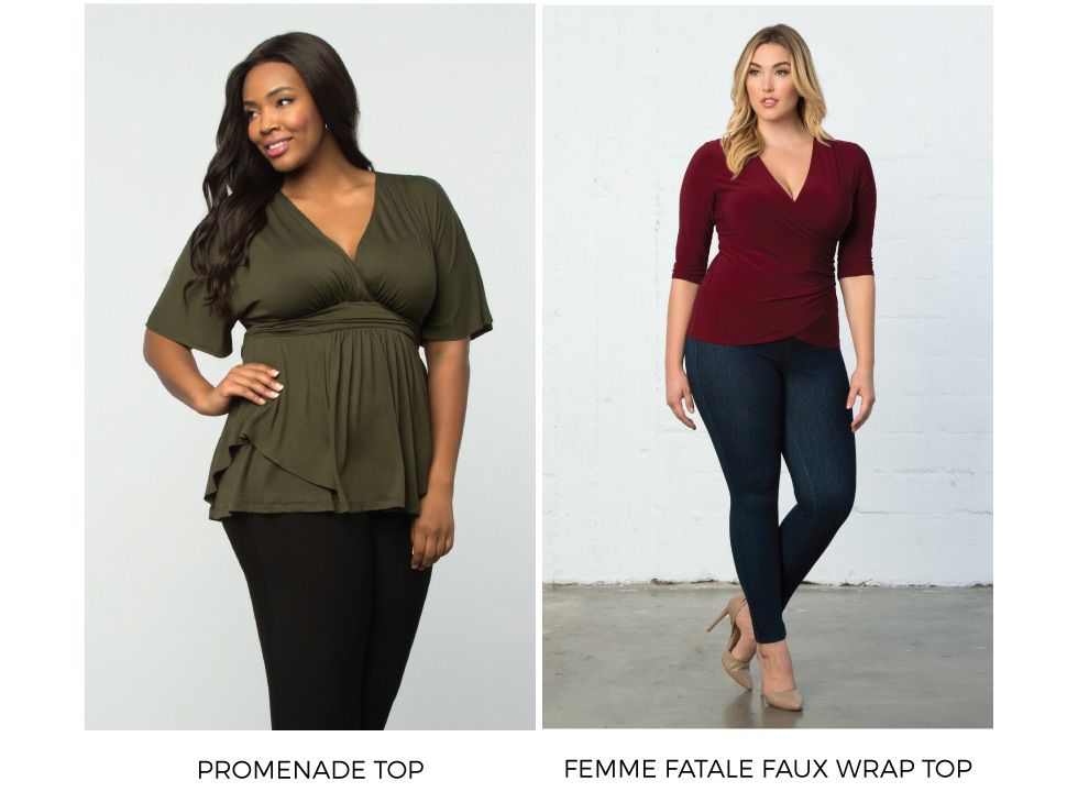 Plus Size Dressy Casual tops for the holidays