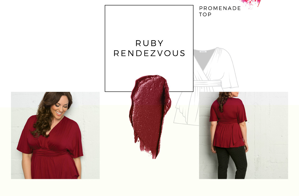Wear a plus size peplum top for your upcomming date night.