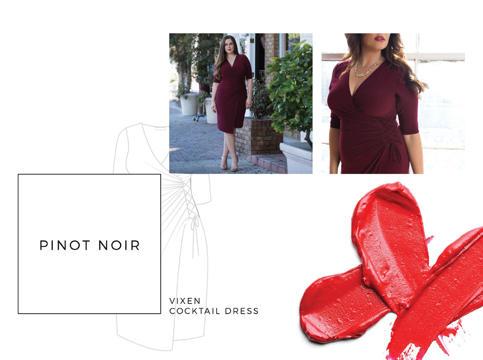 Plus Size Wrap Dresses for valentine's day