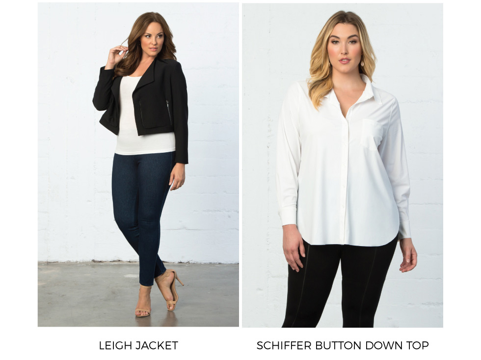 Plus size blazers and button down shirts