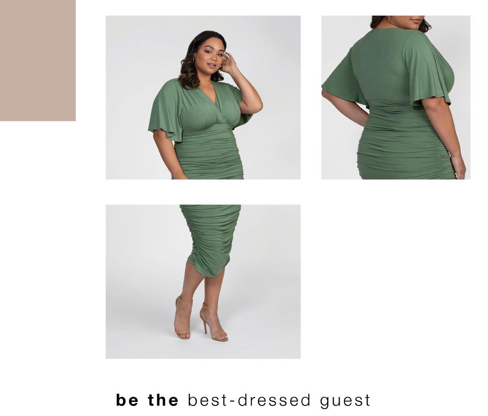 Ellie Crepe Blouse & Harmony Faux Wrap Dress