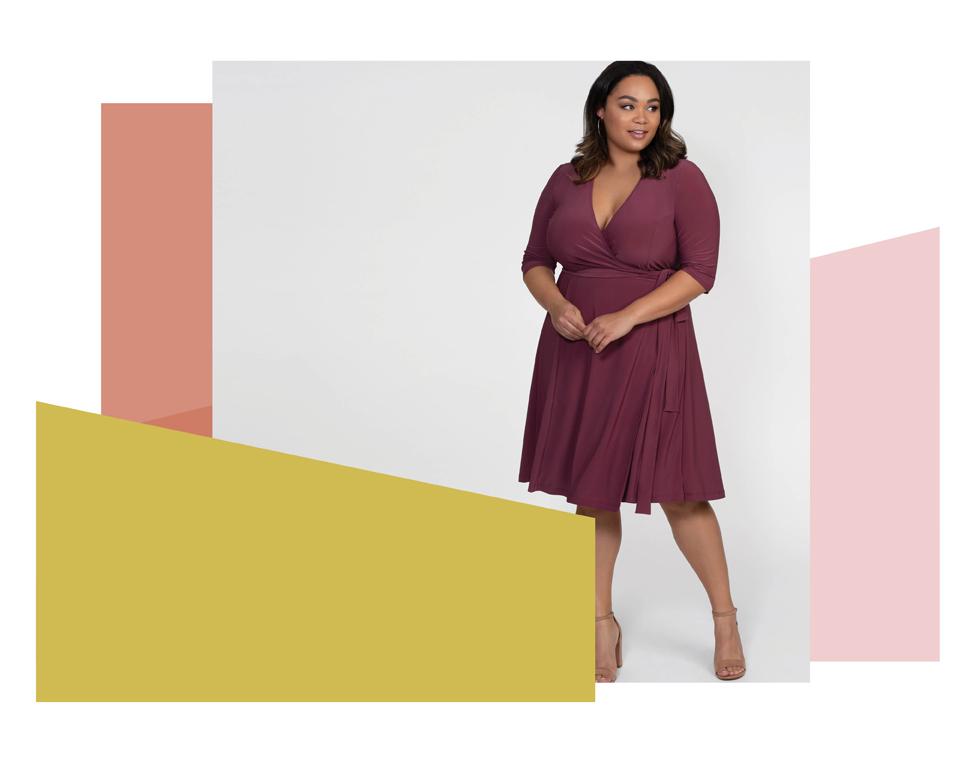 Flirty Flounce Wrap Dress | New Print!