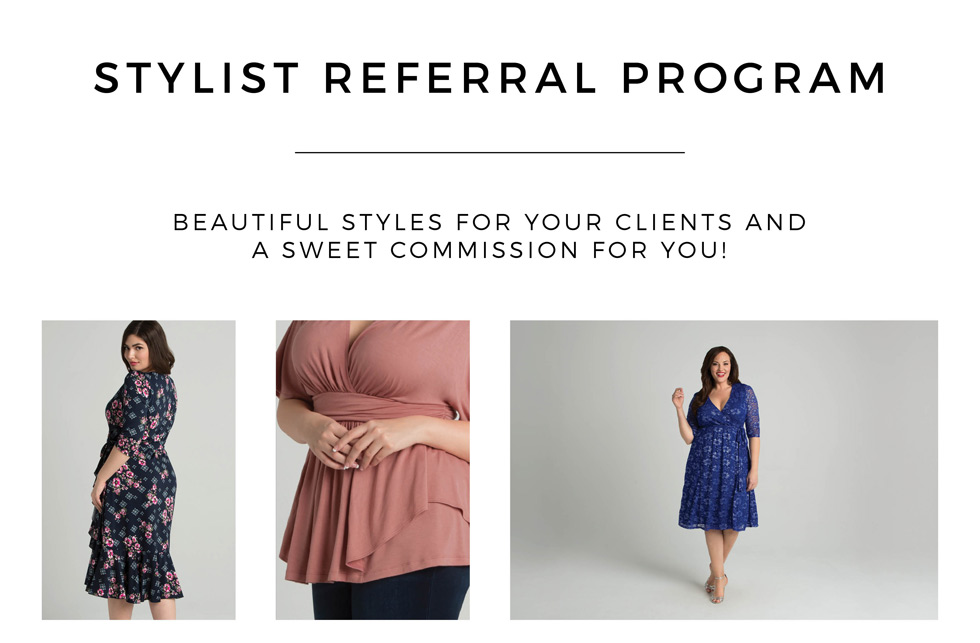 stylist referral program for plus size clothing