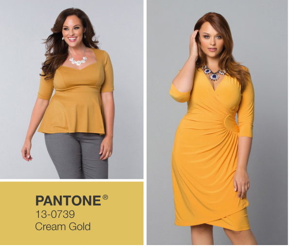 Plus Size Dresses and Tops in Yellow