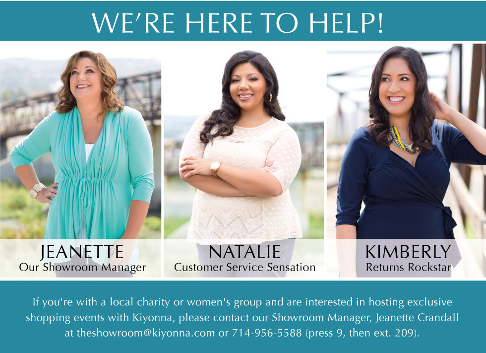 Kiyonna Plus Size Clothing | Customer Service Team