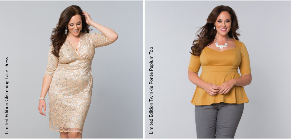Plus Size Cocktail Dresses and Dressy Tops