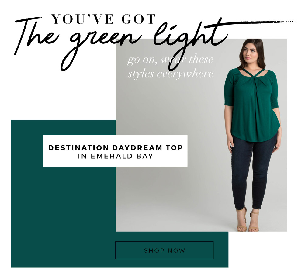 plus size green tops