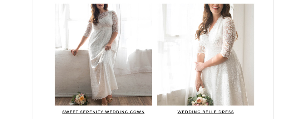 Women's plus size wedding dresses