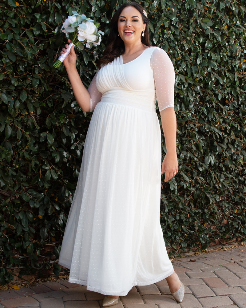 plus size wedding dress online,Kiyonna Womens Plus Size Meant To Be Chic Wedding Dress