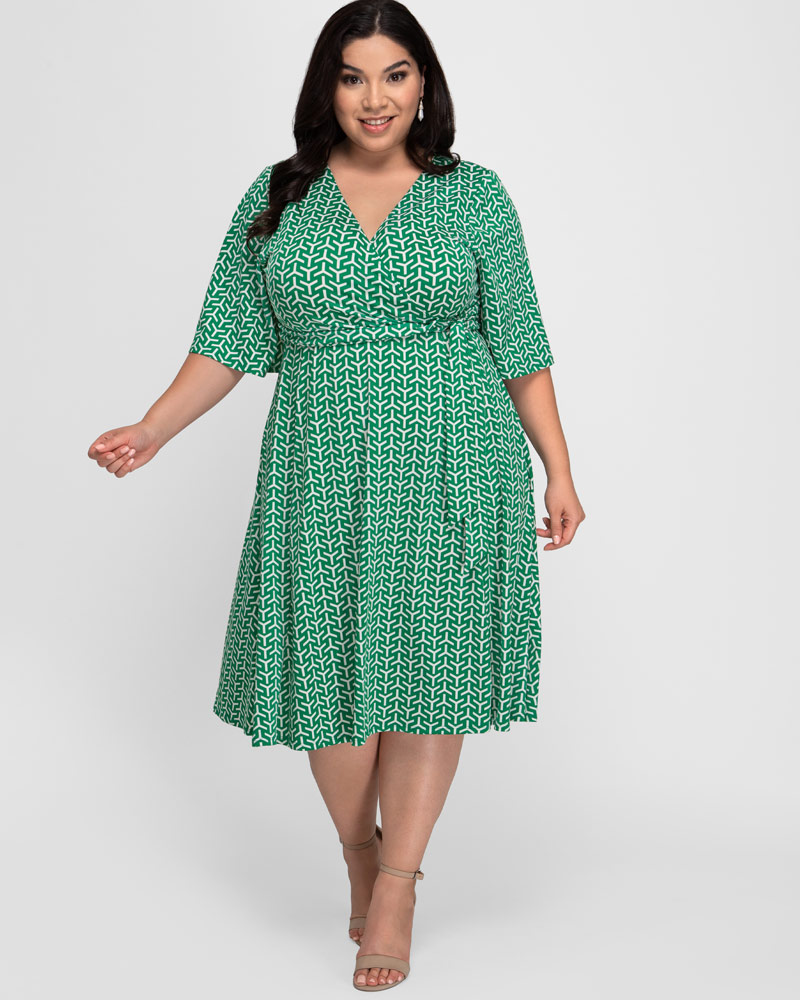 Kiyonna Womens Plus Size Aria Tie Dress