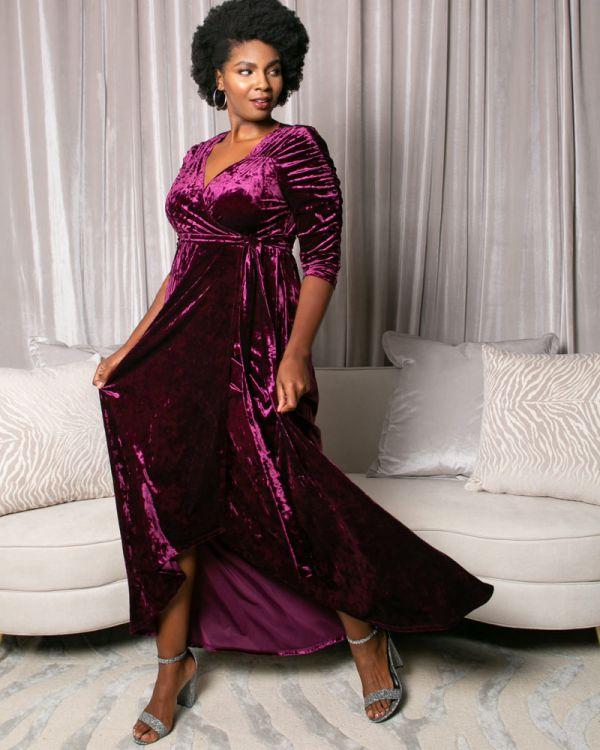 Cara Velvet Wrap Dress