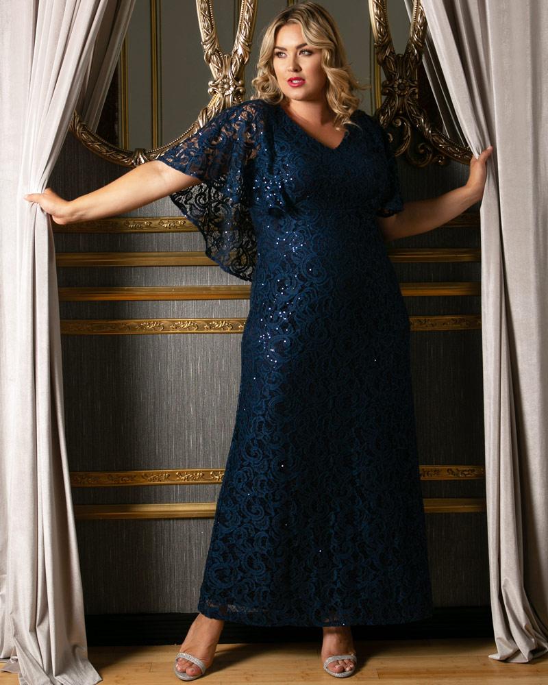 Celestial Cape Sleeve Gown