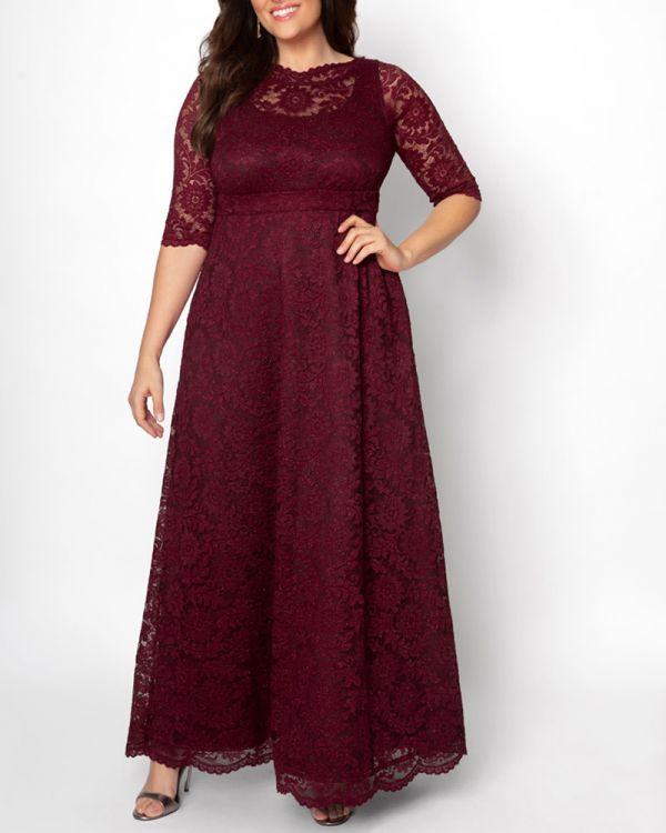 Leona Glitter Lace Gown - Sale!