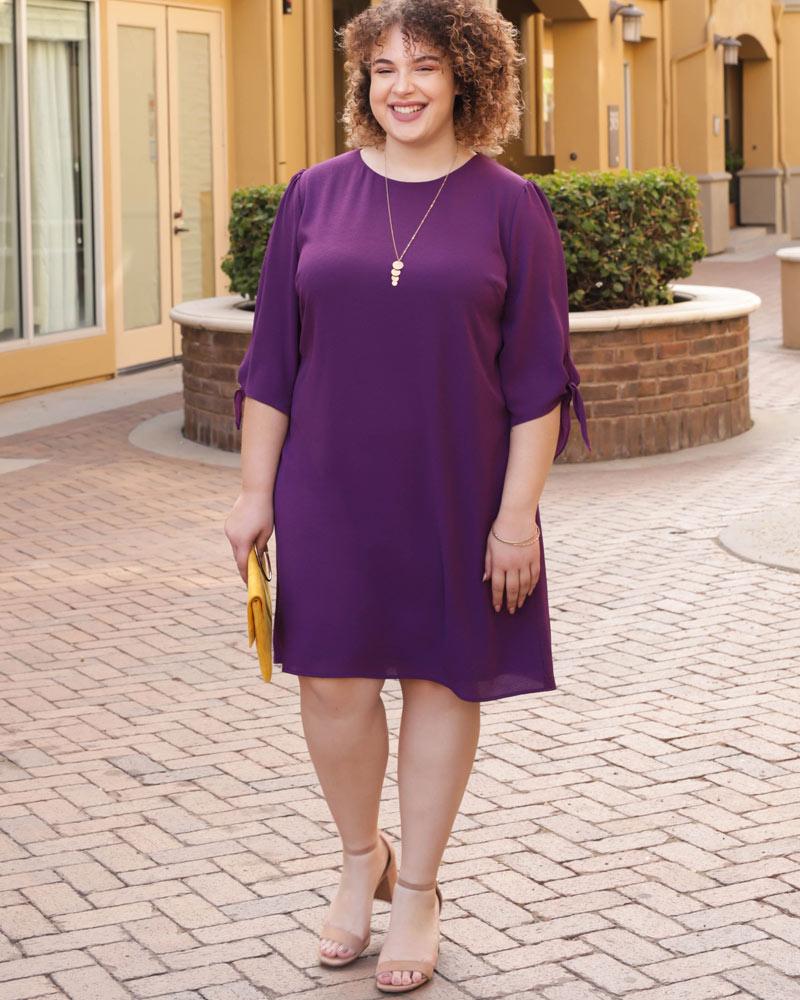 Kiyonna Womens Plus Size Manhattan Shift Dress