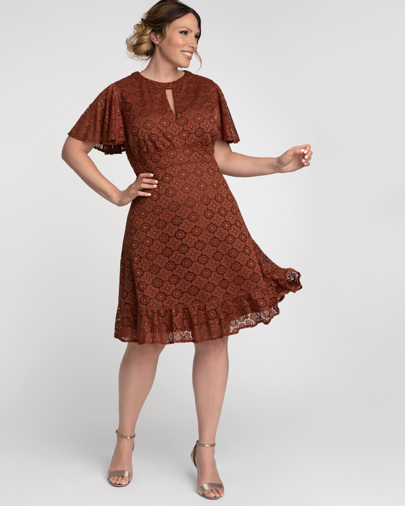Kiyonna Womens Plus Size Middleton Lace Dress