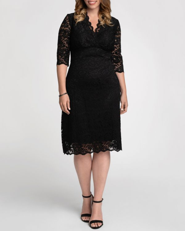 Scalloped Boudoir Lace Dress