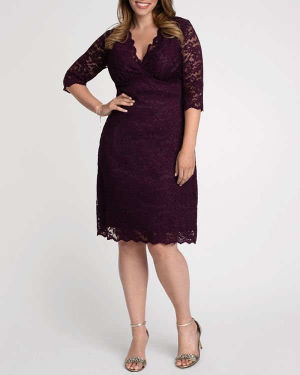 Scalloped Boudoir Lace Dress - Sale!