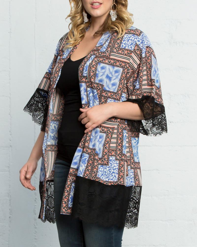 Kiyonna Womens Plus Size Shayla Chiffon Kimono-Sale! - $48.00
