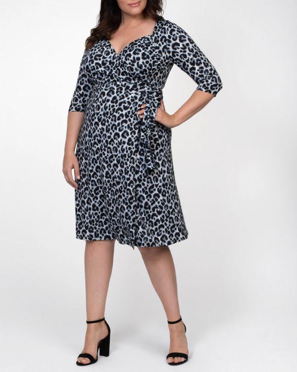 Sweetheart Knit Wrap Dress - Sale!
