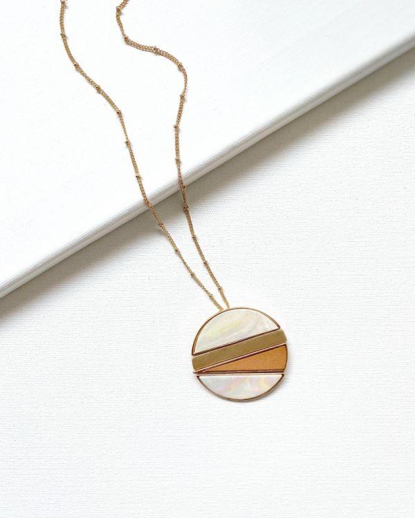 Modern Motif Medallion Necklace
