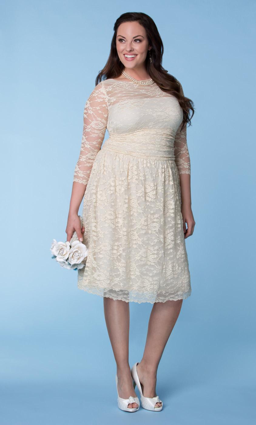Aurora Lace Wedding Dress Kiyonna Clothing